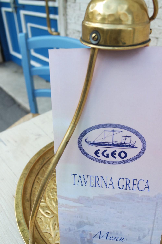 menu ristorante egeo